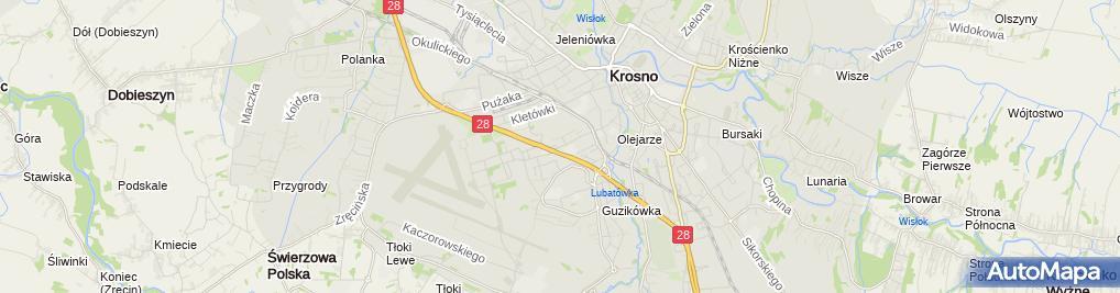 Zdjęcie satelitarne Prywatne Muzeum Podkarpackich Pól Bitewnych
