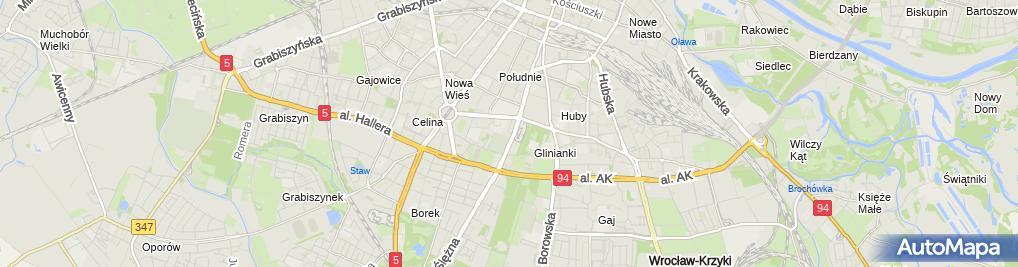 Zdjęcie satelitarne Sztuki Cmentarnej