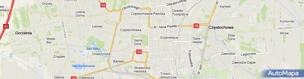 Zdjęcie satelitarne Zdzisława Beksińskiego
