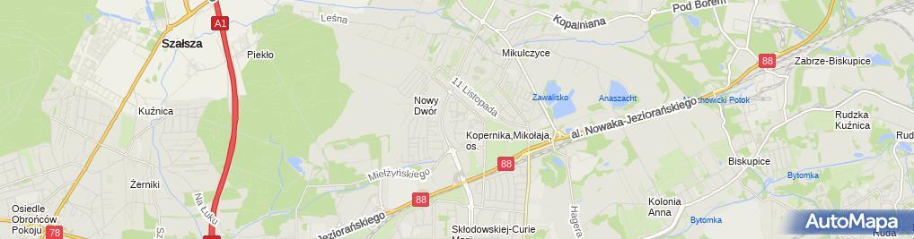 Zdjęcie satelitarne Firma Usługowo-handlowa Dominika. Bogdan Sokoliński