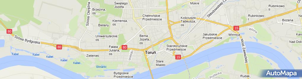 Zdjęcie satelitarne Delegatura - Kujawsko-Pomorski NFZ