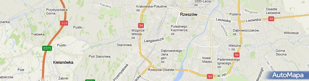 Zdjęcie satelitarne Techmark Rzeszów
