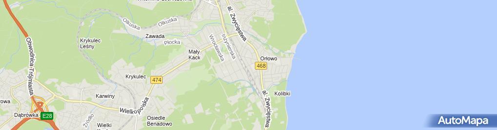 Zdjęcie satelitarne Cukiernia Izabela