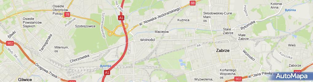Zdjęcie satelitarne Dąbrowscy Sp. z o.o