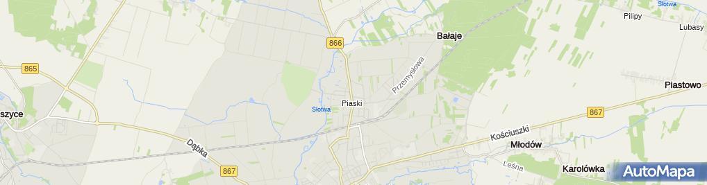 Zdjęcie satelitarne SP ZOZ w Lubaczowie