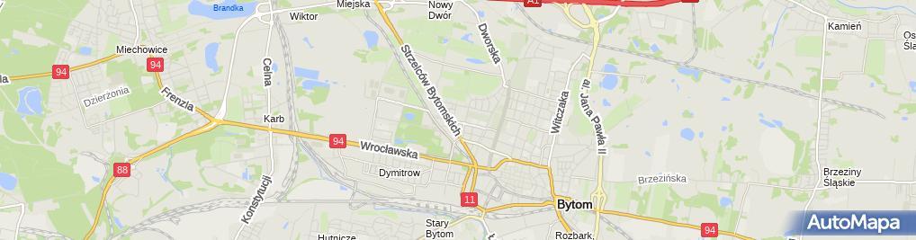 Zdjęcie satelitarne SP ZOZ Wojewódzki Szpital Specjalistyczny nr 4 w Bytomiu