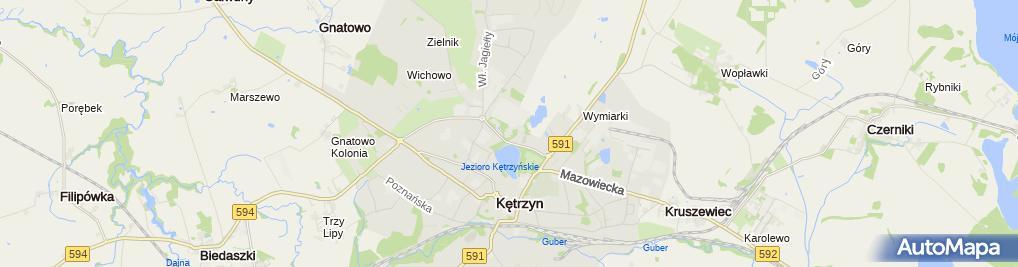 Zdjęcie satelitarne Szpital Powiatowy w Kętrzynie