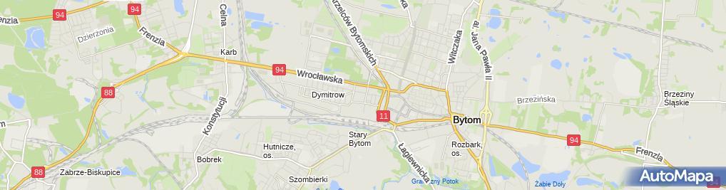 Zdjęcie satelitarne Szpital Specjalistyczny nr 2 w Bytomiu