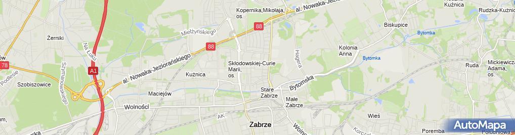 Zdjęcie satelitarne Szpital Specjalistyczny w Zabrzu sp. z o.o.