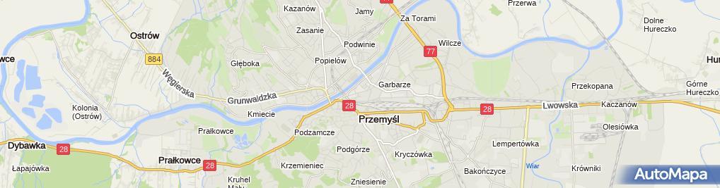 Zdjęcie satelitarne Wojewódzki Szpital im. Św. Ojca Pio w Przemyślu