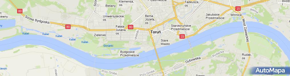 Zdjęcie satelitarne Wojewódzki Szpital Zespolony im. L. Rydygiera w Toruniu