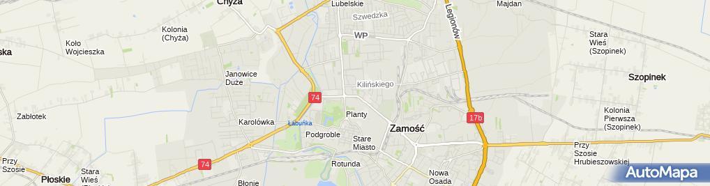 Zdjęcie satelitarne Zamojski Szpital Niepubliczny sp. z o.o.