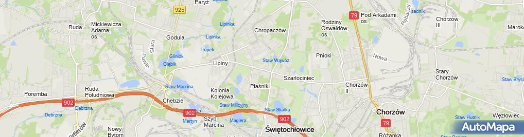Zdjęcie satelitarne ZOZ w Świętochłowicach