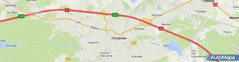 Zdjęcie satelitarne Hala Widowiskowo Sportowa