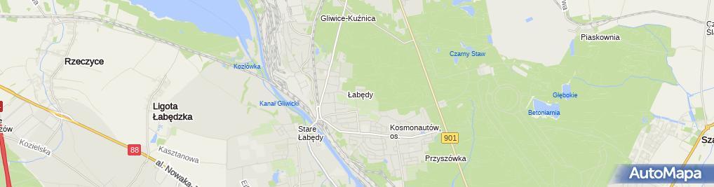 Zdjęcie satelitarne ZTS Łabędy
