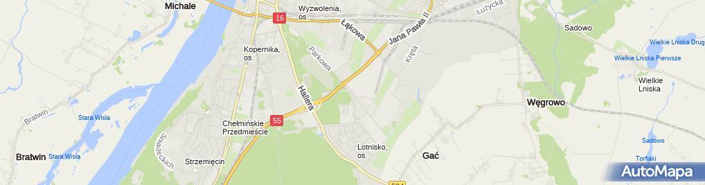 Zdjęcie satelitarne Wojskowe Zakłady Uzbrojenia S.A.