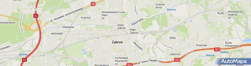 Zdjęcie satelitarne Oddział PTTK im. Andrzeja Jakusza w Zabrzu