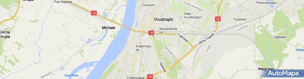 Zdjęcie satelitarne Oddział PTTK im. ks. ppłk. dr. Władysława Łęgi w Grudziądzu
