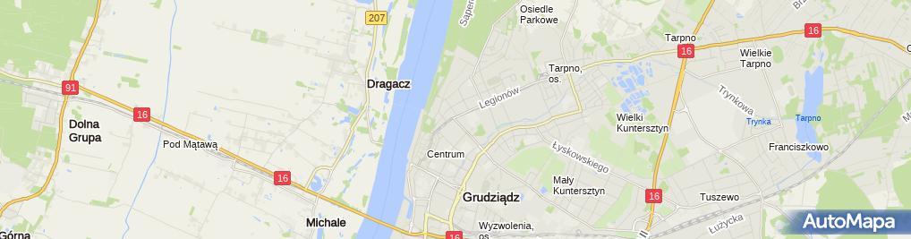 Zdjęcie satelitarne Salon Mody Ślubnej Vivien Vigo Zofia Frydrychowicz