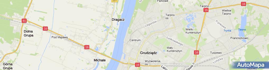 Zdjęcie satelitarne Sklep Modna