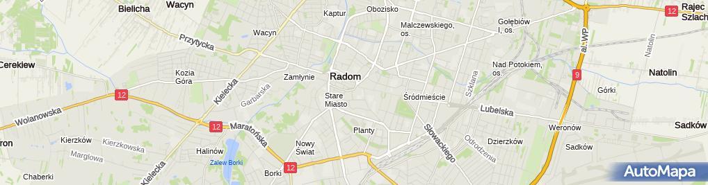 Zdjęcie satelitarne OptiMed - optyk, okulista, optometrysta, okulary Radom