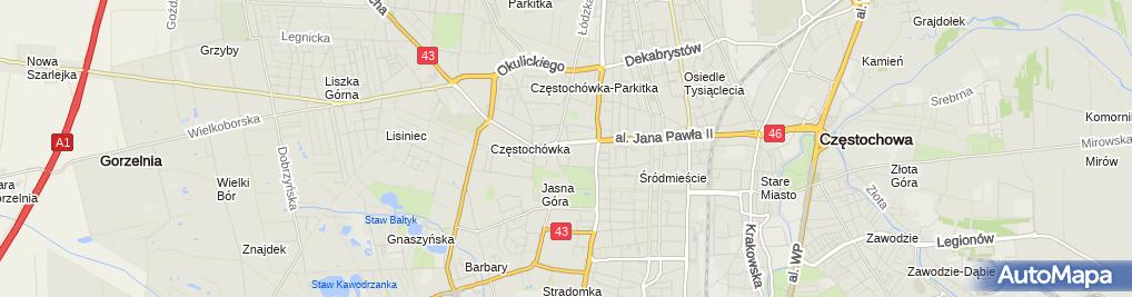 Zdjęcie satelitarne Polaczek
