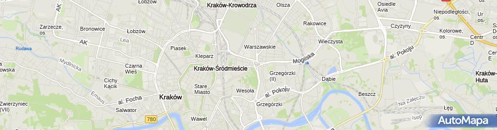 Zdjęcie satelitarne Opera Krakowska