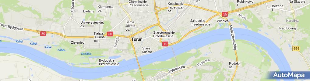Zdjęcie satelitarne Cech Rzemiosł Różnych w Toruniu