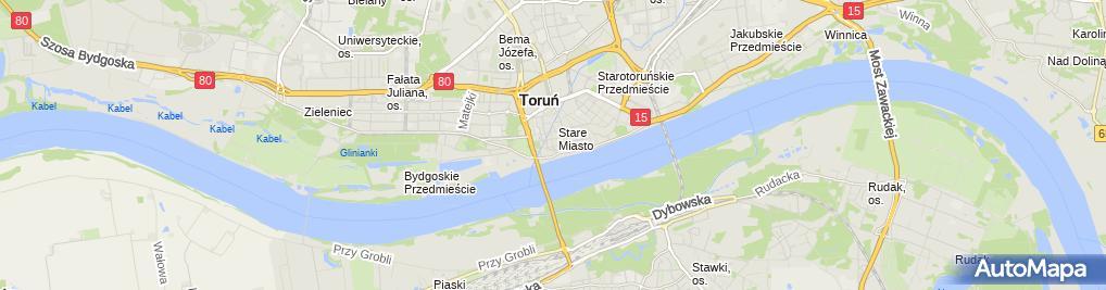 Zdjęcie satelitarne Automobilklub Toruński