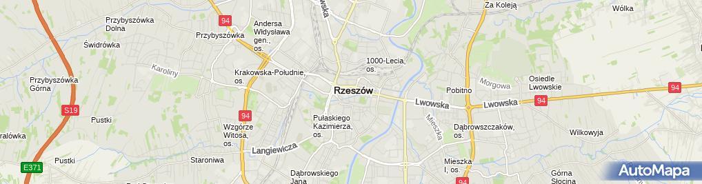 Zdjęcie satelitarne Polski Związek Głuchych