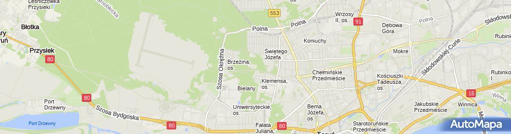 """Zdjęcie satelitarne Stowarzyszenie Hospicjum """"Światło"""""""