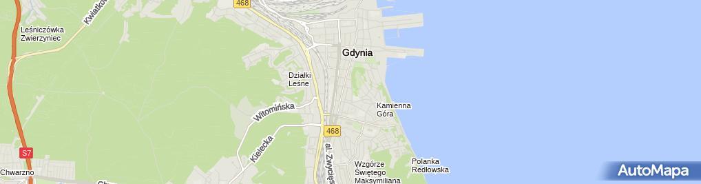 Zdjęcie satelitarne Zrzeszenie Kaszubsko Pomorskie Oddział w Gdyni