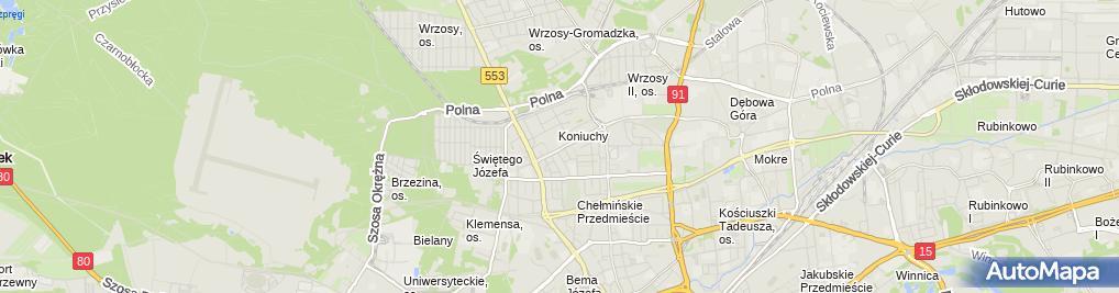 Zdjęcie satelitarne Ogólnopolski Związek Pracodawców Transportu Drogowego