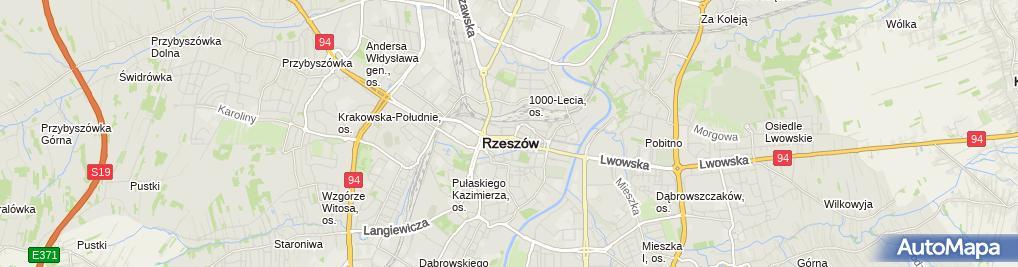 Zdjęcie satelitarne Ośrodek Szkolenia Kierowców NOVA Krzysztof Szczęch