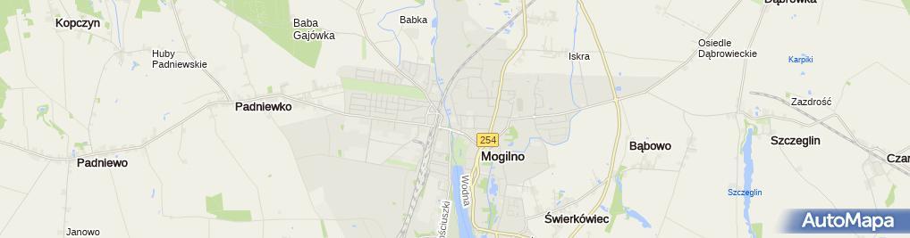 Zdjęcie satelitarne Ośrodek Szkolenia Kierowców Paweł Skowroński