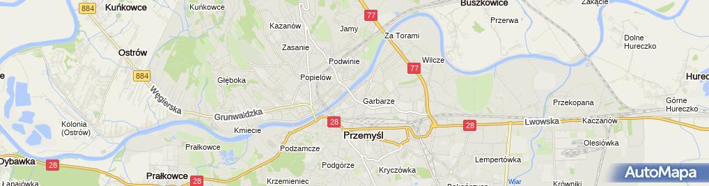 Zdjęcie satelitarne Paczkomat InPost PRZ07M