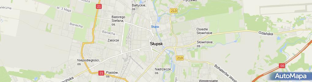 Zdjęcie satelitarne Paczkomat InPost SLU04A