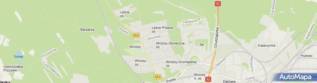 Zdjęcie satelitarne Paczkomat InPost TOR14A