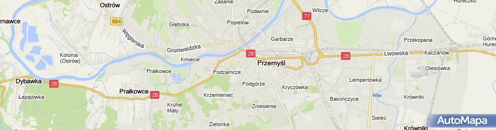 Zdjęcie satelitarne Pałac biskupów greko-kat. z XIX/XX w.