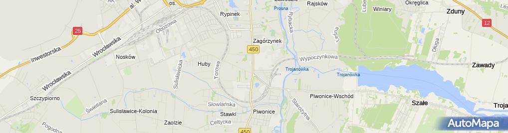 Zdjęcie satelitarne JRG nr 2 Kalisz