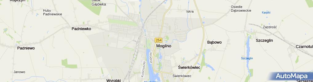Zdjęcie satelitarne KP PSP Mogilno