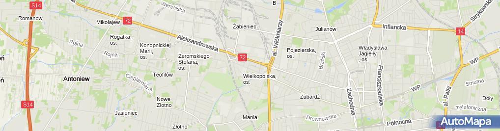 Zdjęcie satelitarne Joanna Sokół Handel i Usługi