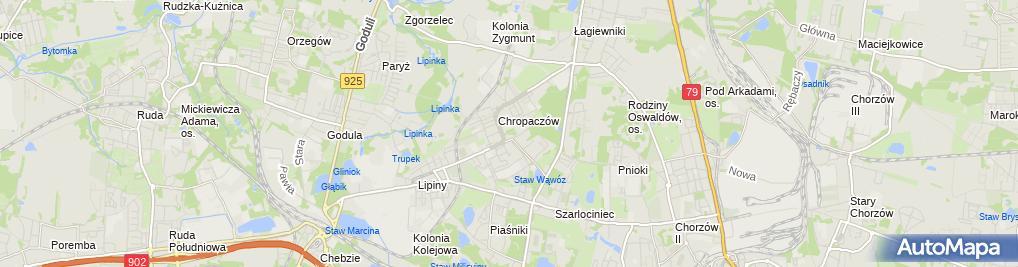Zdjęcie satelitarne Park Chropaczowski