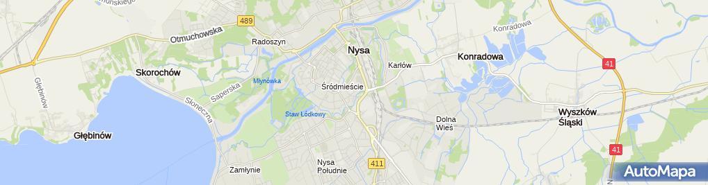 Zdjęcie satelitarne Parkomat B22