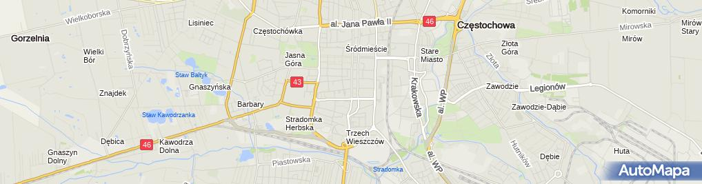 Zdjęcie satelitarne Parkomat