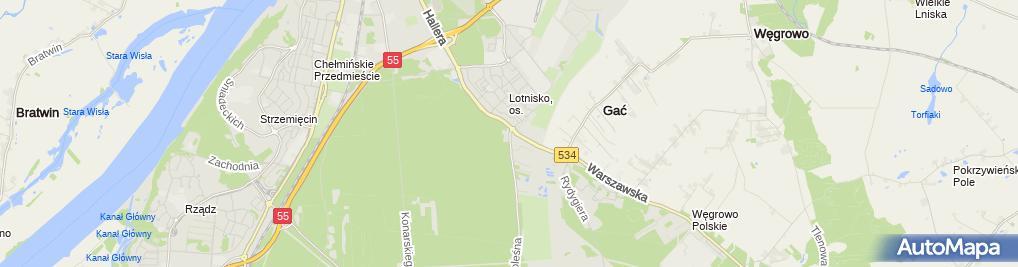 Zdjęcie satelitarne Zajazd pod Kasztanem