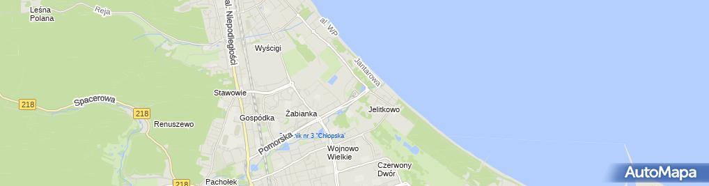 Zdjęcie satelitarne Pętla tramwajowa