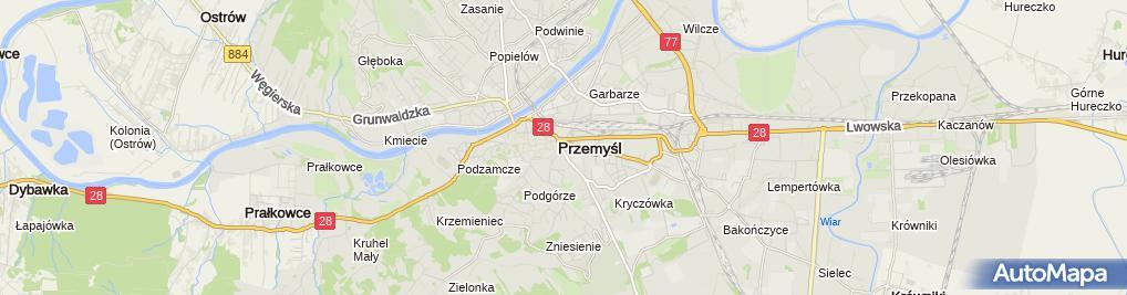 Zdjęcie satelitarne Pizzacafe