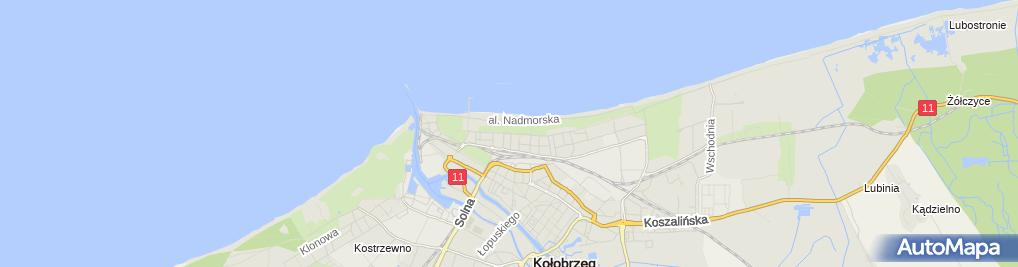 Zdjęcie satelitarne Pizzeria Marianooo Kołobrzeg