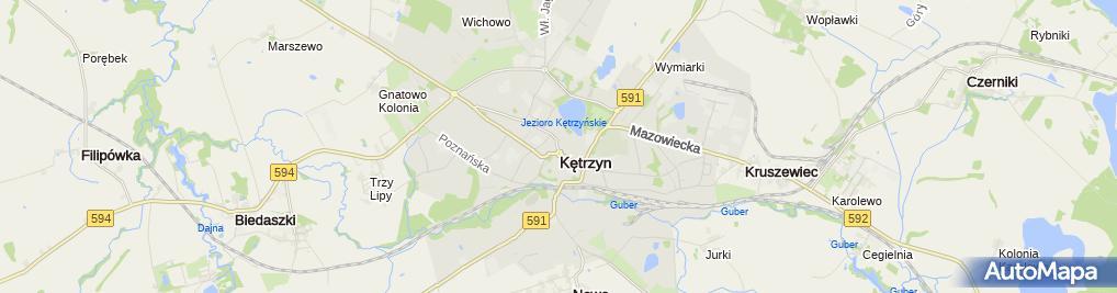 Zdjęcie satelitarne Pizzeria Przy 6-tym